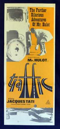 Traffic 1971 Daybill movie poster Jacquess Tati Mr. Hulot