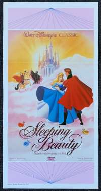 Sleeping Beauty 1959 Disney Daybill movie poster 1986 Re-Issue
