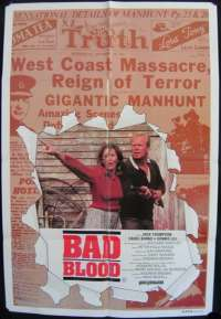 Bad Blood One Sheet Australian Movie poster