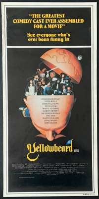 Yellowbeard 1983 John Cleese Monty Python Daybill movie poster