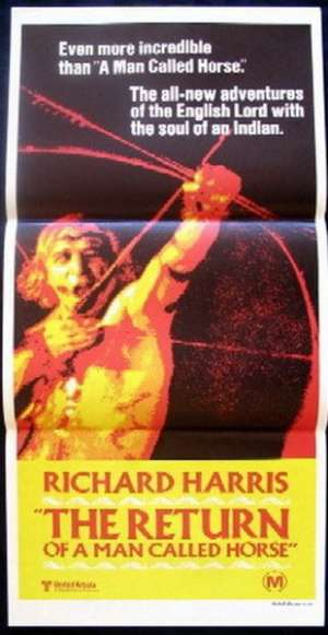 The Return Of A Man Called Horse 1976 Richard Harris Daybill movie poster