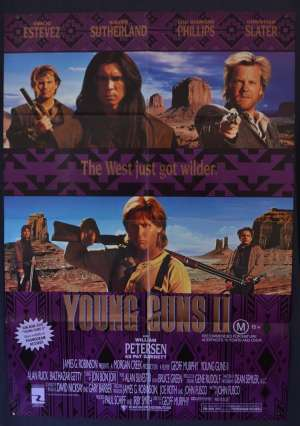 Young Guns 2 Poster Original One Sheet 1990 Emilo Estevez Kiefer Sutherland