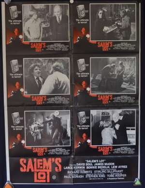 Salem's Lot Poster Original Australian Photosheet 1979 David Soul Tobe Hooper