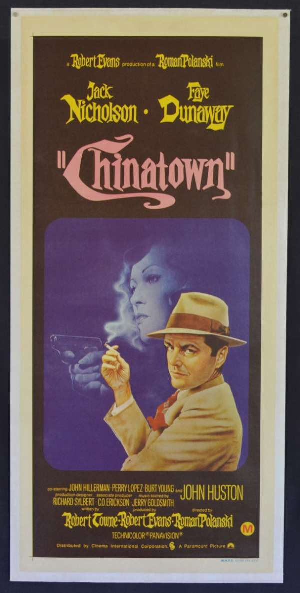 All About Movies Chinatown Poster Daybill Linen Backed Jack Nicholson Faye Dunaway