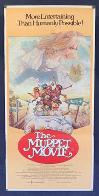 The Muppet Movie Poster Original Daybill 1979 Kermit Miss Piggy