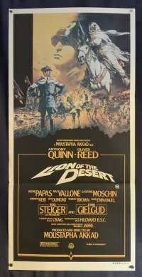 Lion Of The Desert Poster Original Daybill 1981 Anthony Quinn Oliver Reed