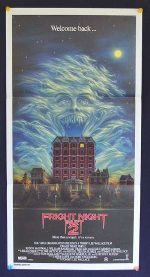 Fright Night Part 2 Movie Poster Original Daybill 1988 Daybill movie poster