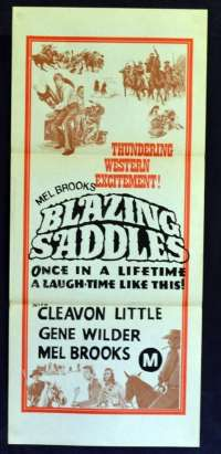 Blazing Saddles 1974 Daybill movie poster Rare art Mel Brooks Gene Wilder