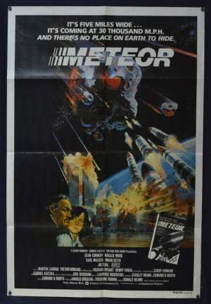 Meteor 1979 One Sheet movie poster Sean Connery Natalie Wood