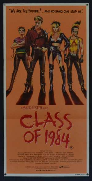 Class Of 1984 poster Daybill Perry King Alice Cooper Gang Violence