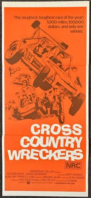 Cross Country Wreckers 1977 aka Checkered Flag Or Crash Daybill movie poster