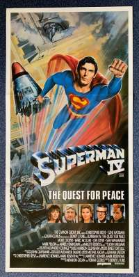 Superman 4 The Quest For Peace Poster Original Daybill 1987 Christopher Reeve