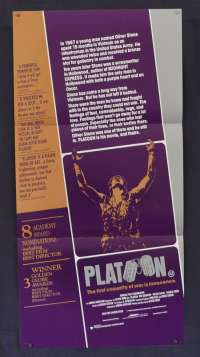 Platoon 1986 Daybill movie poster Vietnam Tom Berenger Willem Dafoe