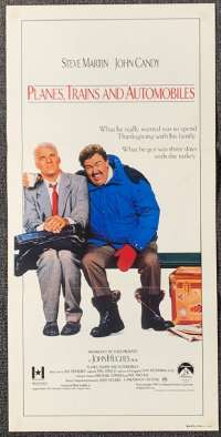 Planes, Trains And Automobiles 1987 movie poster Daybill Steve Martin John Candy