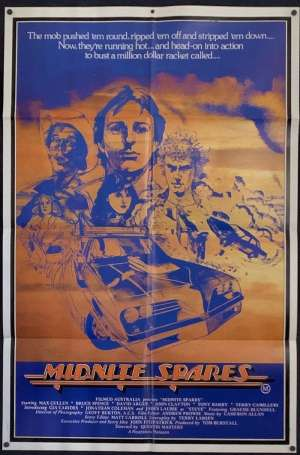 Midnite Spares 1983 Rare One Sheet movie poster Bruce Spence Max Cullen