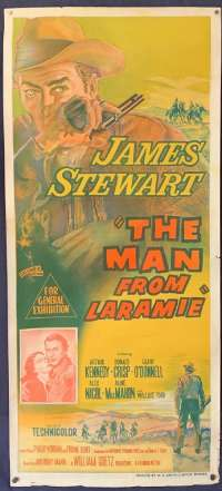 The Man From Laramie Movie Poster Original Daybill Rare 1955 James Stewart