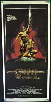 Conan The Barbarian 1982 Daybill movie poster Arnold Schwarzenegger