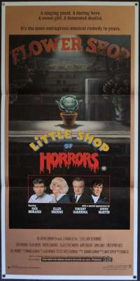 Little Shop Of Horrors Movie Poster Original Daybill 1986 Rick Moranis Steve Martin
