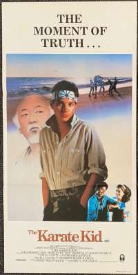 The Karate Kid 1984 Daybill movie poster advance art Ralph Macchio