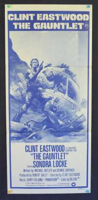 The Gauntlet 1977 movie poster Clint Eastwood alternate art Daybill