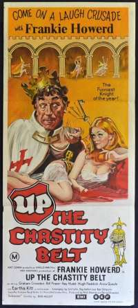 Up The Chasity Belt 1971 Daybill movie poster Frankie Howerd Eartha Kitt