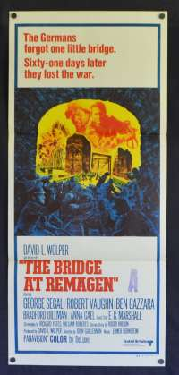 The Bridge At Remagen Poster Original Daybill 1969 George Segal Robert Vaughn