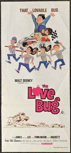 The Love Bug Movie Poster Daybill Disney Dean Jones 1979 RI