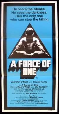 A Force Of One Daybill movie poster Chuck Norris
