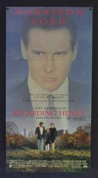 Regarding Henry 1991 Daybill movie poster Harrison Ford Annette Bening