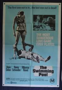 The Swimming Pool (La Piscine) Poster Original One Sheet 1969 Alain Delon