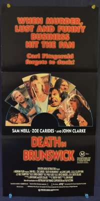 Death In Brunswick 1990 movie poster Sam Neill John Clarke Australian Daybill