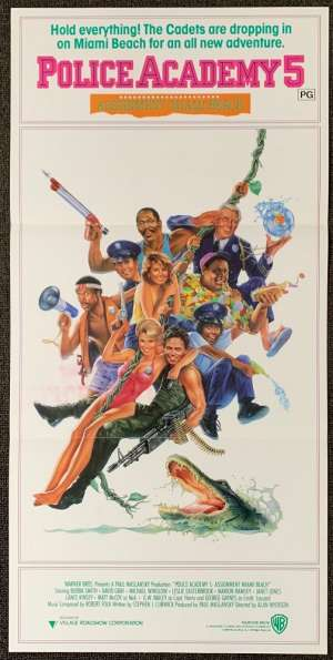 Police Academy 5 1987 Daybill movie poster Carl Ramsey art