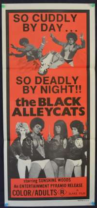 The Black Alleycats Poster 1973 Australian Daybill Sunshine Woods