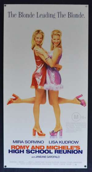 Romy And Michelle's High School Reunion Poster Original Daybill 1997 Lisa Kudrow