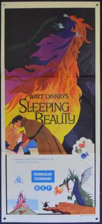Sleeping Beauty 1959 Daybill movie poster 1970 Re-Issue Disney