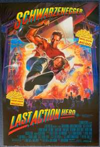 Last Action Hero Movie Poster Original One Sheet 1993 Arnold Schwarzenegger