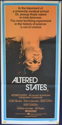 Altered States movie poster Daybill William Hurt Blair Brown