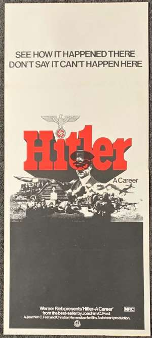Hitler A Career Poster Original Daybill 1977 War Documentary Nazis
