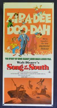 Song Of The South Poster Daybill Re-Issue 1980 Disney Bre Rabbit