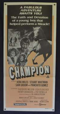 Champion 1977 aka Run for The Roses Daybill movie poster Vera Miles Horse Racing