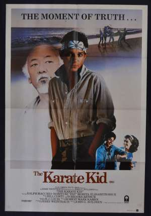 The Karate Kid Poster Original One Sheet Style A 1984 Ralph Macchio