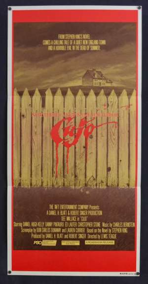 Cujo movie poster Daybill Stephen King Horror Dog Dee Wallace