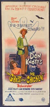 The Ghost And Mr. Chicken Poster Original Daybill 1966 Don Knotts Joan Staley