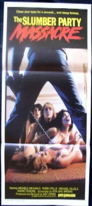 The Slumber Party Massacre Daybill Movie poster