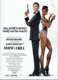 A View To A Kill 1985 Cinema Flyer James Bond Roger Moore