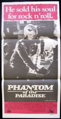 Phantom Of The Paradise 1974 Daybill movie poster Brian De Palmer
