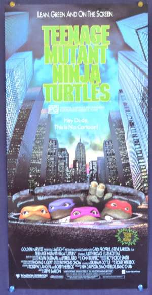 Teenage Mutant Ninja Turtles Movie Poster Original Daybill 1990 TMNT