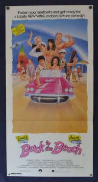 Back To The Beach Daybill Poster 1987 Frankie Avalon Annette Funicello Surfing