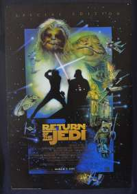 Return Of The Jedi Poster One Sheet Reprint 1997 Special Edition Struzan Art