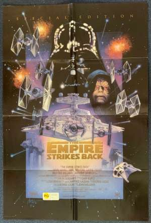 The Empire Strikes Back Poster USA Original One Sheet 1997 Struzan Art Double Sided